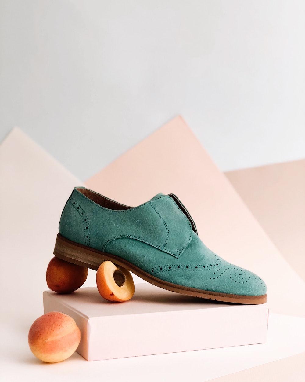 Modello di scarpa esempio di foto di una scheda prodotto